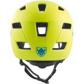 TSG Cadete Solid Color Helmet Youth satin acid yellow-blue